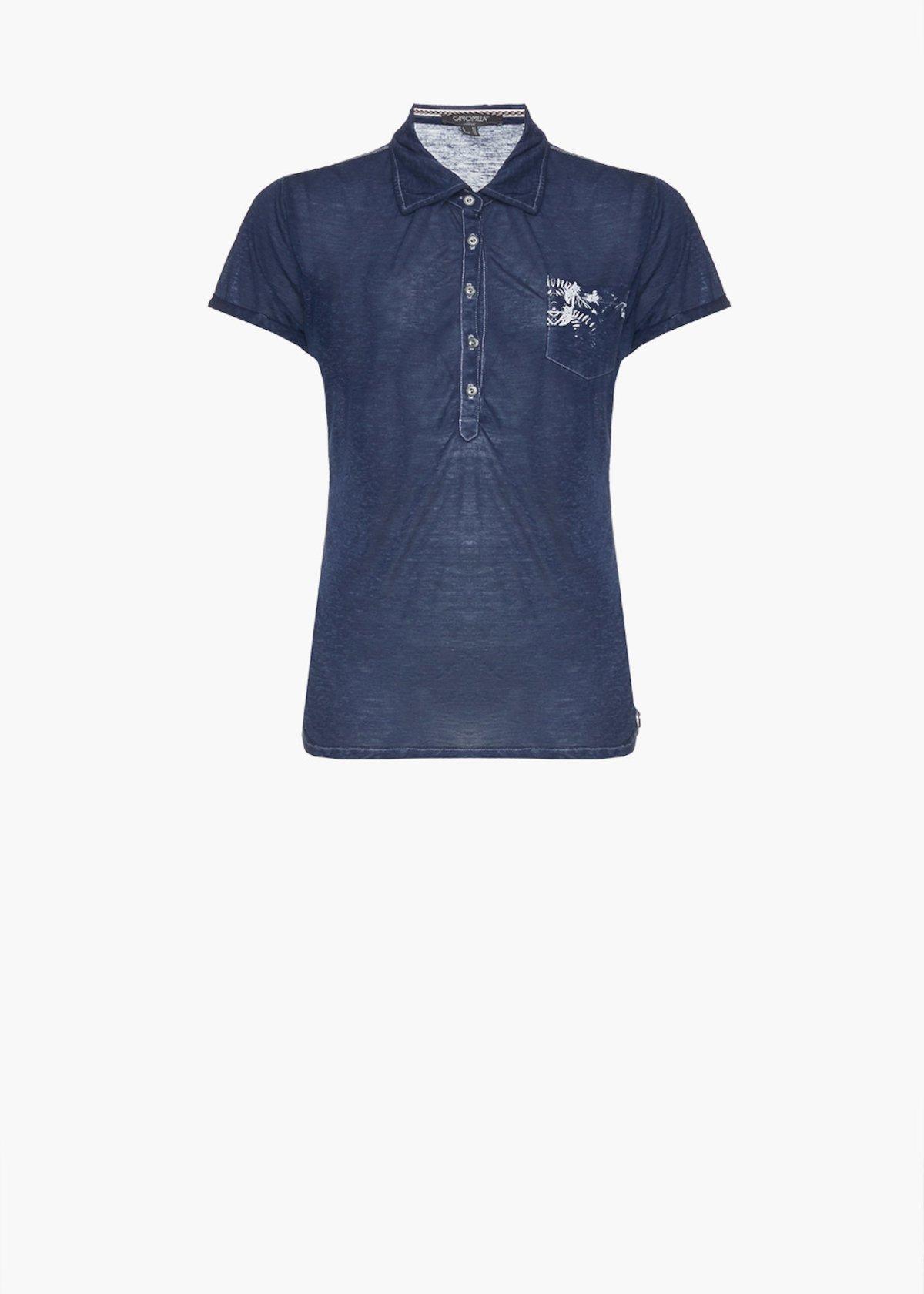 T-shirt Selly con taschino laterale - Blue / White Fantasia - Donna