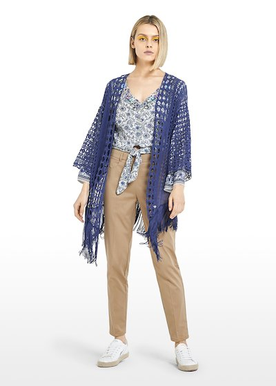 Cloedy long Cardigan with fringes at the bottom