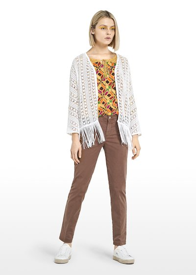 Clue short Cardigan with fringes at the bottom