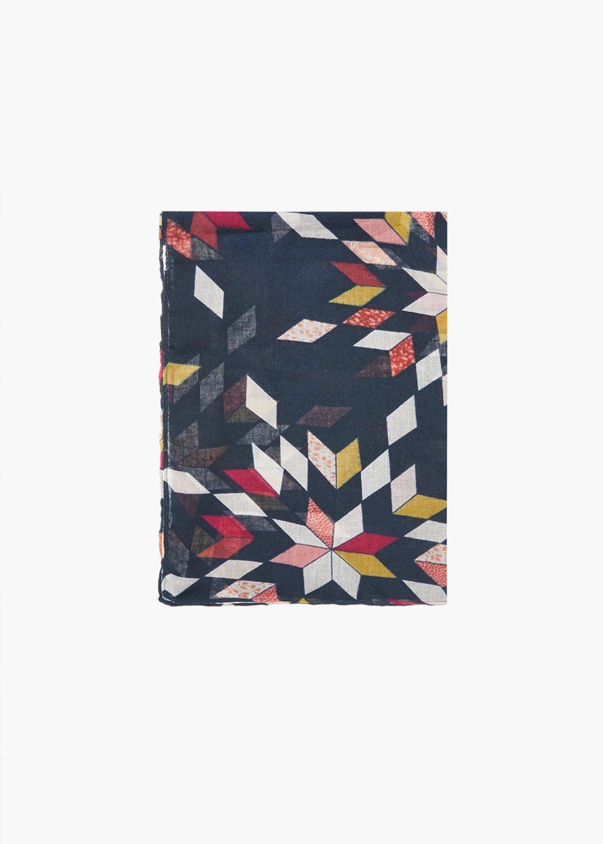 Sciarpa Sherry geometrical print - Dark Blue Fantasia - Donna - Immagine categoria