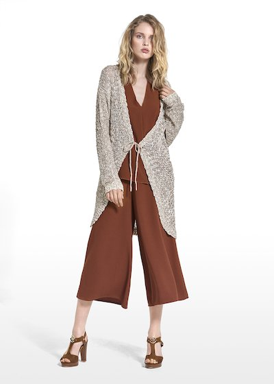 Corin long cardigan with bow