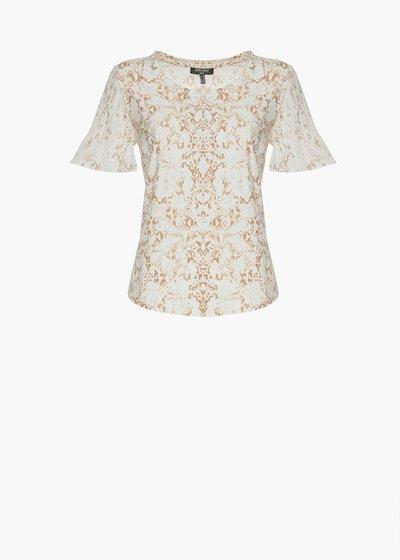 T-shirt Silky  pitone print con arriccio