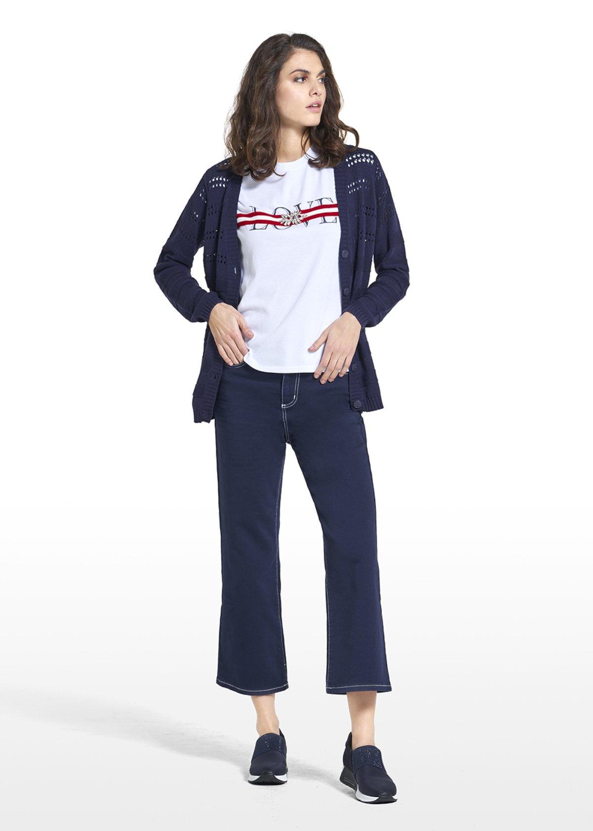 Cardigan Couli con chiusura a bottoni - Medium Blue - Donna - Immagine categoria