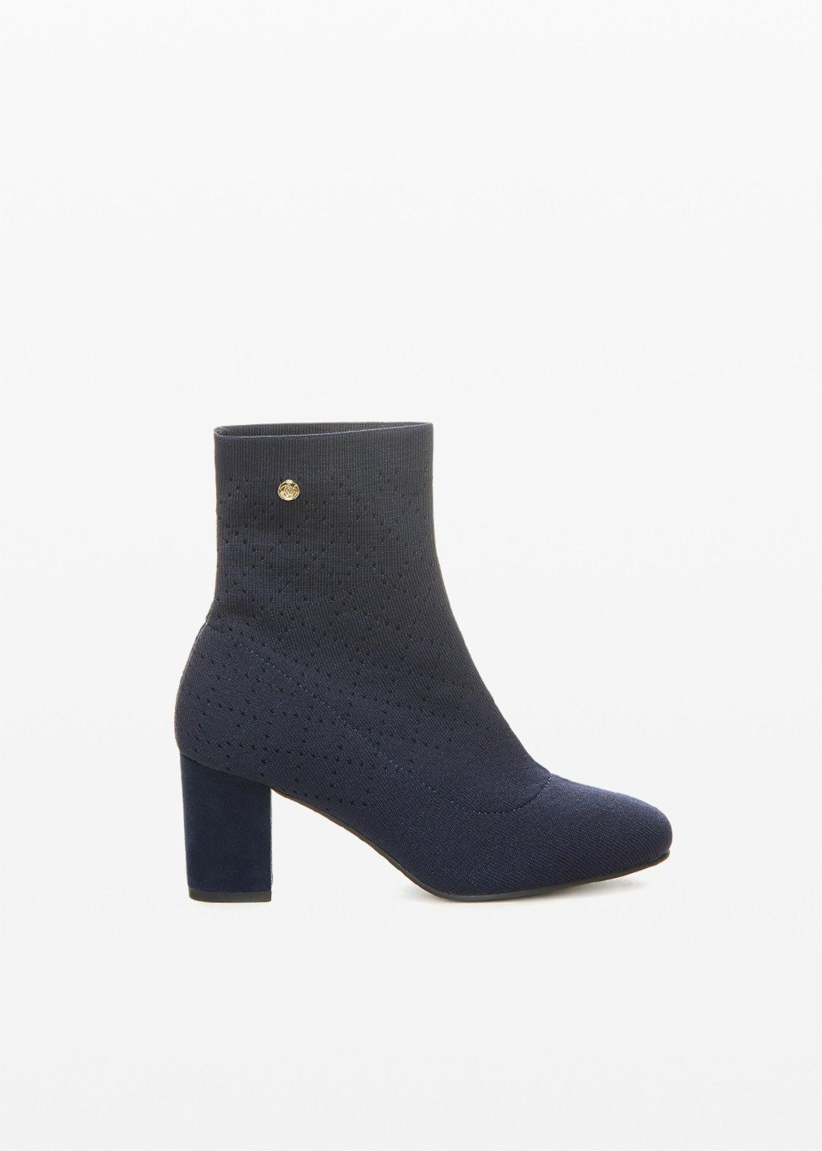 Stash knit boots sock effect - Medium Blue - Woman