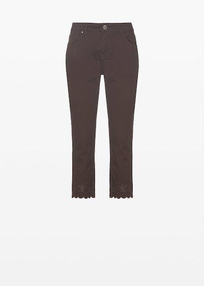 Capri trousers Palmer con fondo gamba smerlato