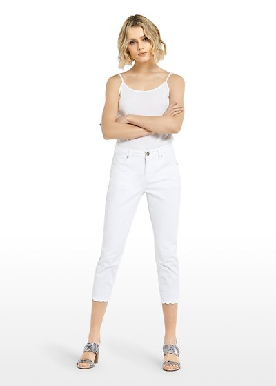 Palmer Capri trousers with scalloped leg bottom