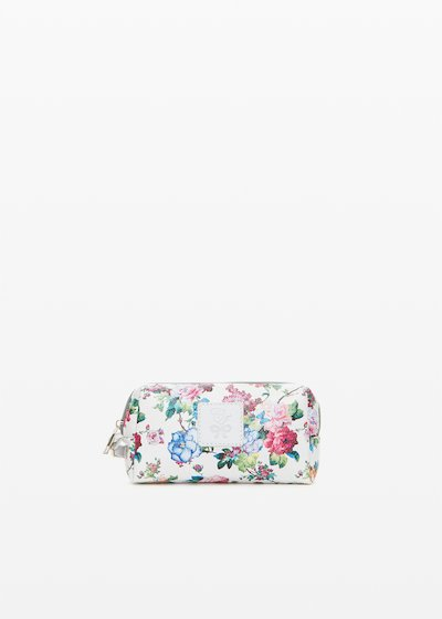 Briccofl1 faux leather Beauty with flowers print