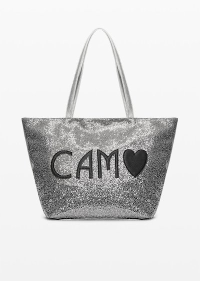 Bondy Shopping bag in sparkling material