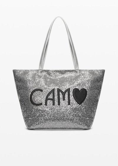 Shopping bag Bondy in sparkling material