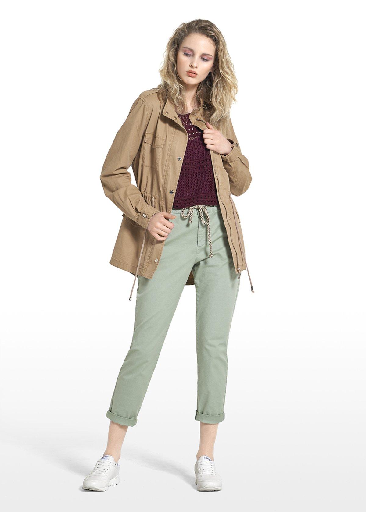 Gayl jacket Saharan model with metallic details - Tobacco - Woman