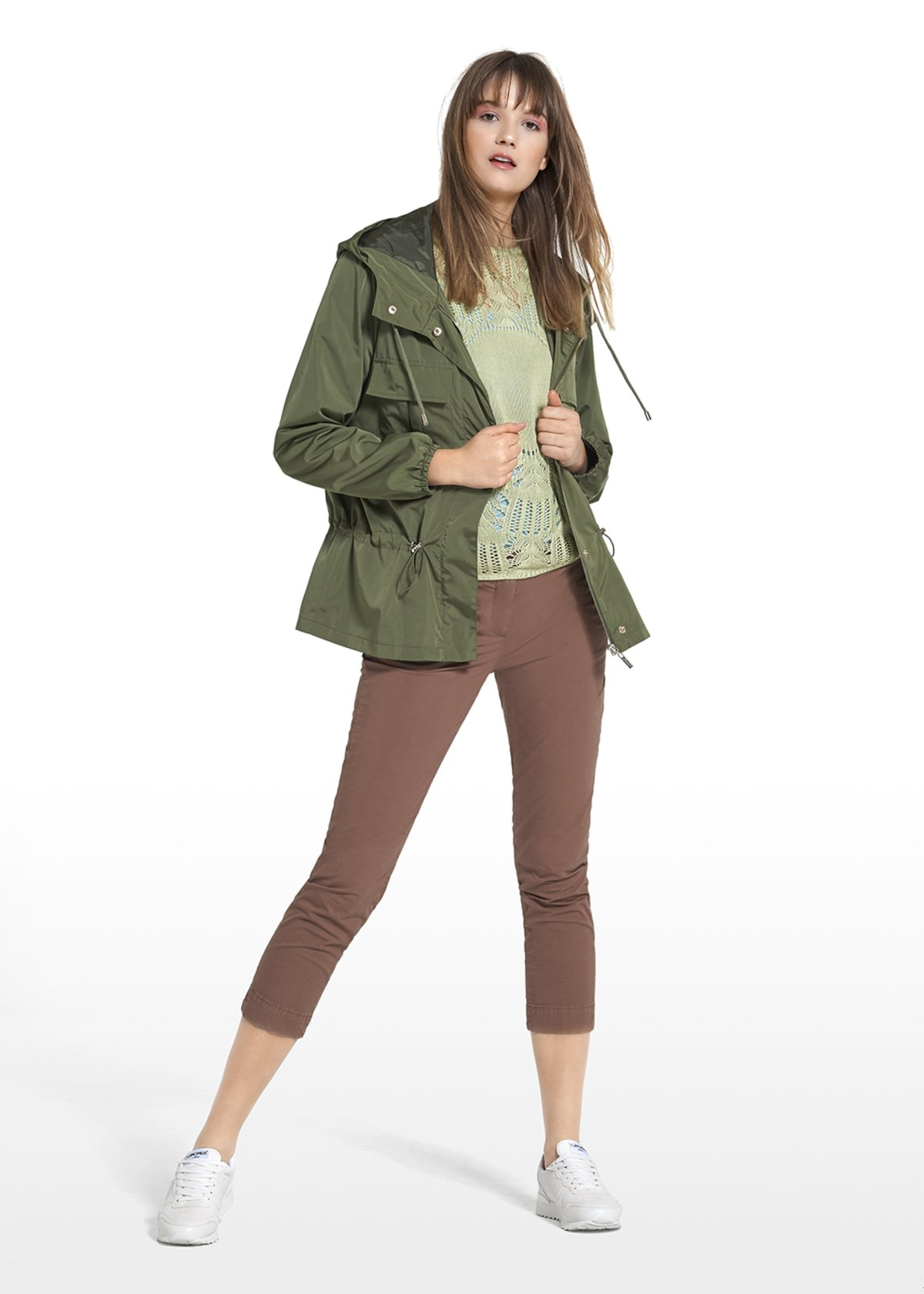 Gil jacket with drawstring and pockets on the front - Alga - Woman