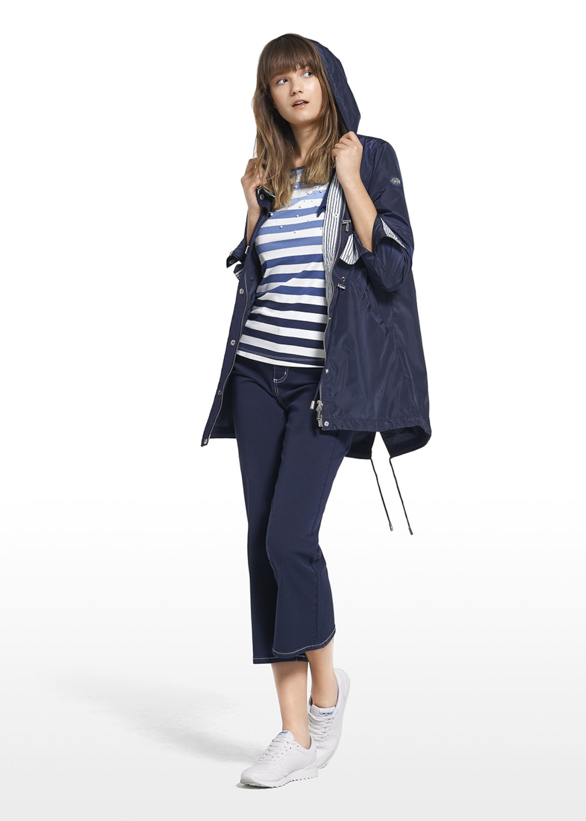 Parka Gixy with a drawstriing at the waist - Medium Blue - Woman - Category image