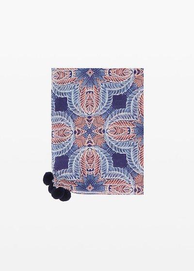 Sadye scarf with pompons detail