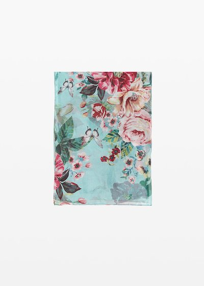 Soleh Scarf floral pattern