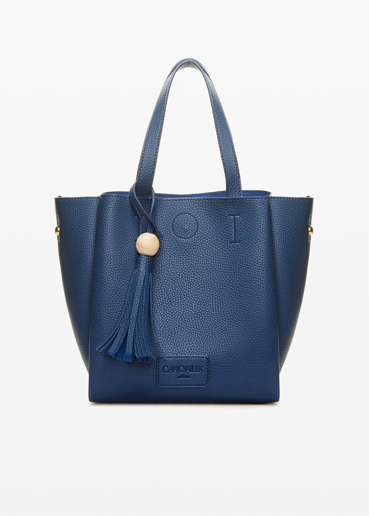 Borsa Bryan in ecopelle stampa cervo double color - Medium Blue - Donna