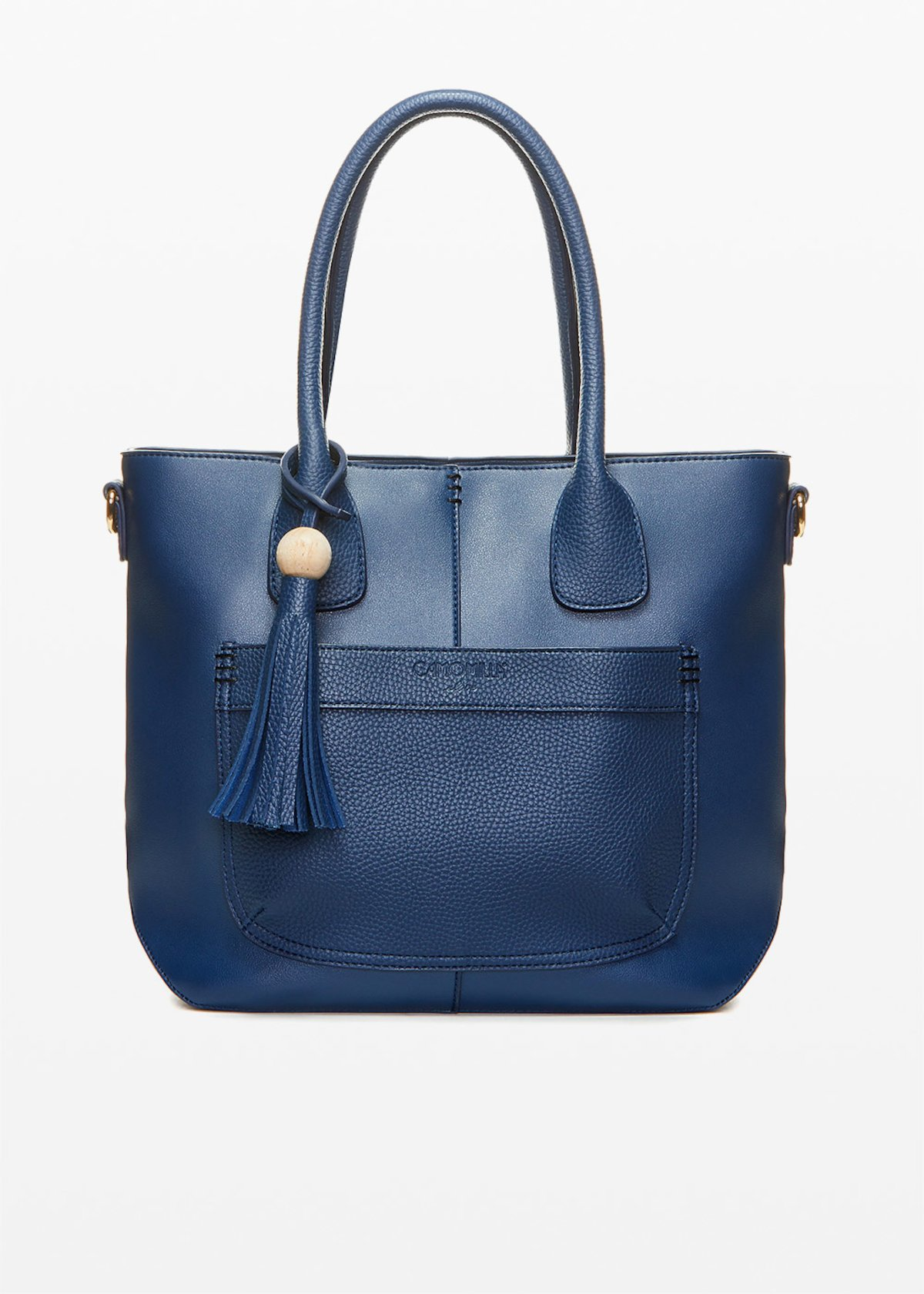 Faux leather Brittny handbag deer print with pocket and tassel detail - Medium Blue - Woman - Category image