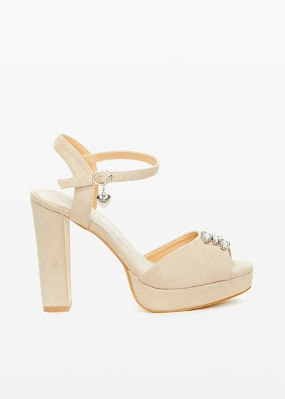 Selma sandals with jewel detail