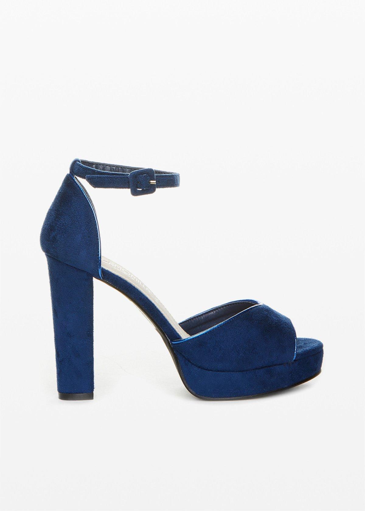 Sandra microfiber sandals with piping metal - Medium Blue - Woman