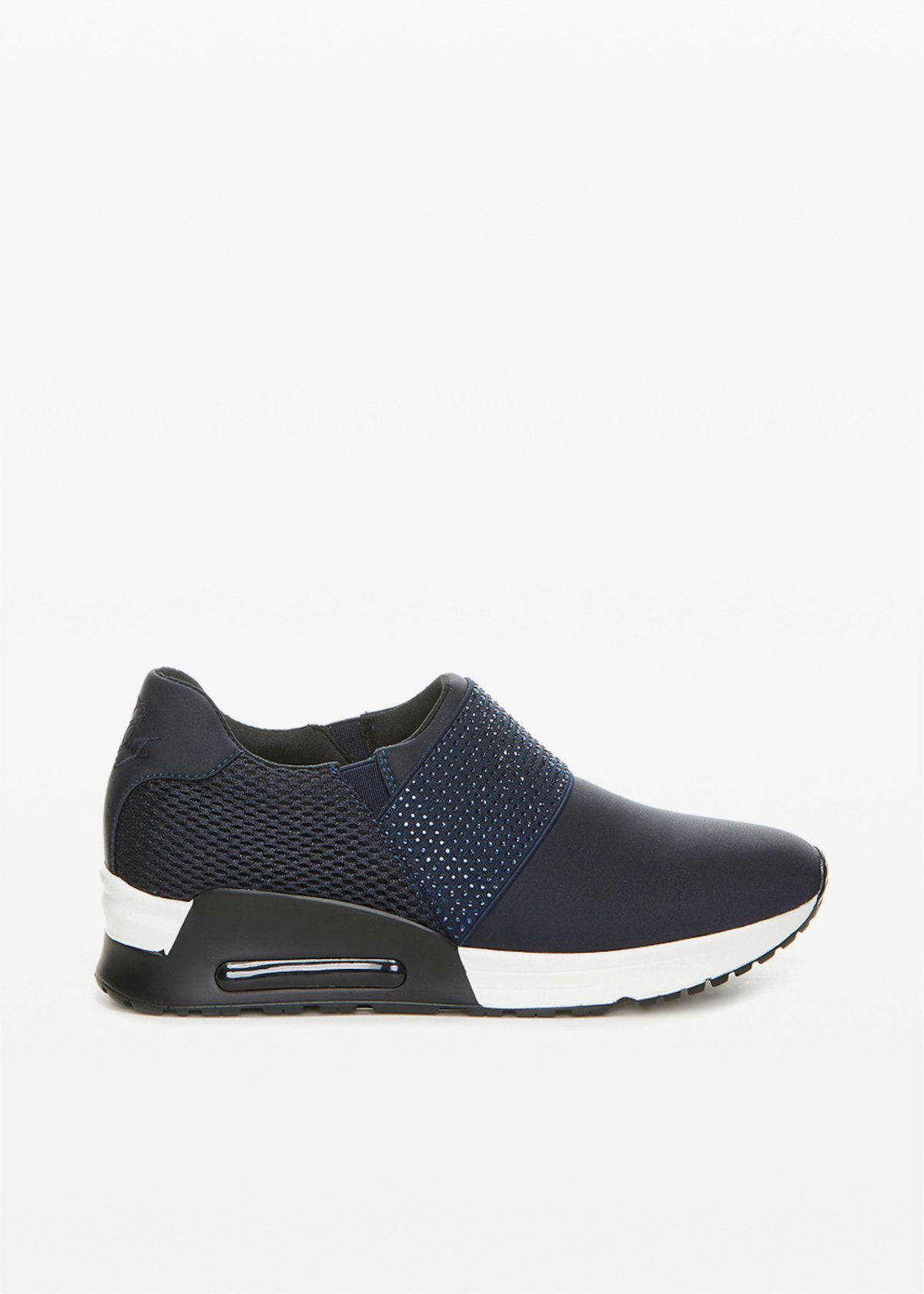 Sakira technical fabric and faux leather Sporty shoes - Medium Blue - Woman