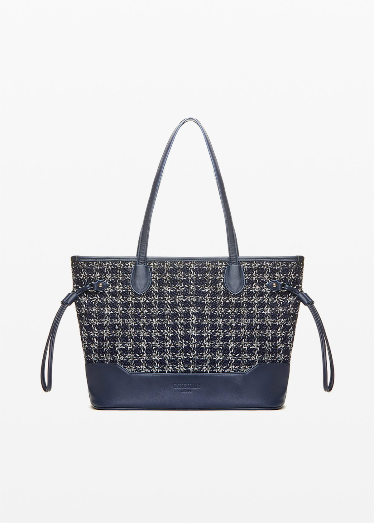 Beta Shopping bag boucle' effect - Blue / White Fantasia - Woman