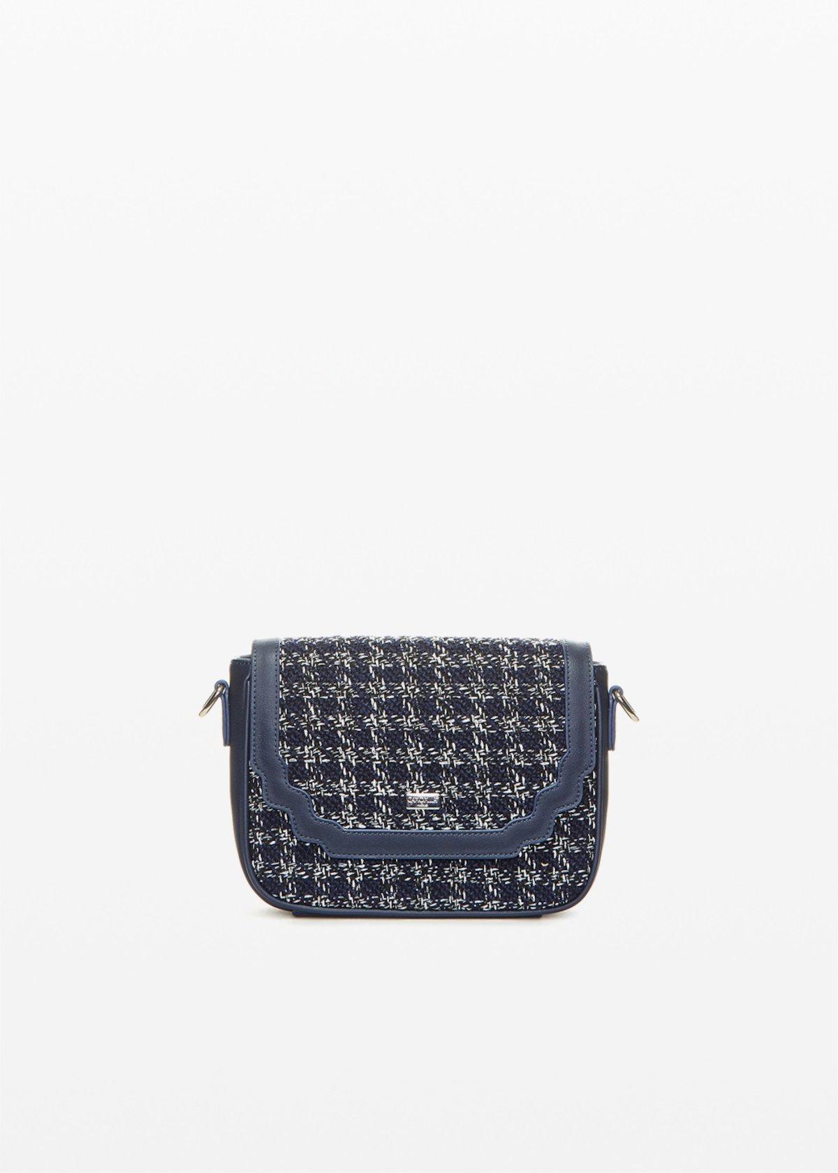 Crossbody bag Bita in ecopelle boucle' effect - Blue / White Fantasia - Donna
