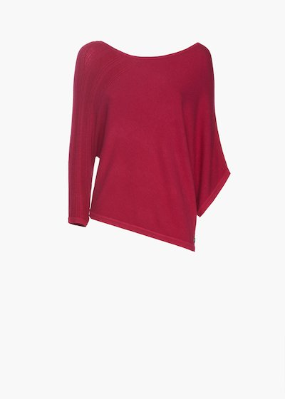 Sweater Major with boat neckline and asymmetric sleeves
