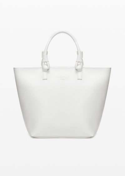 Shopping bag Banna in ecopelle con manici ad anello