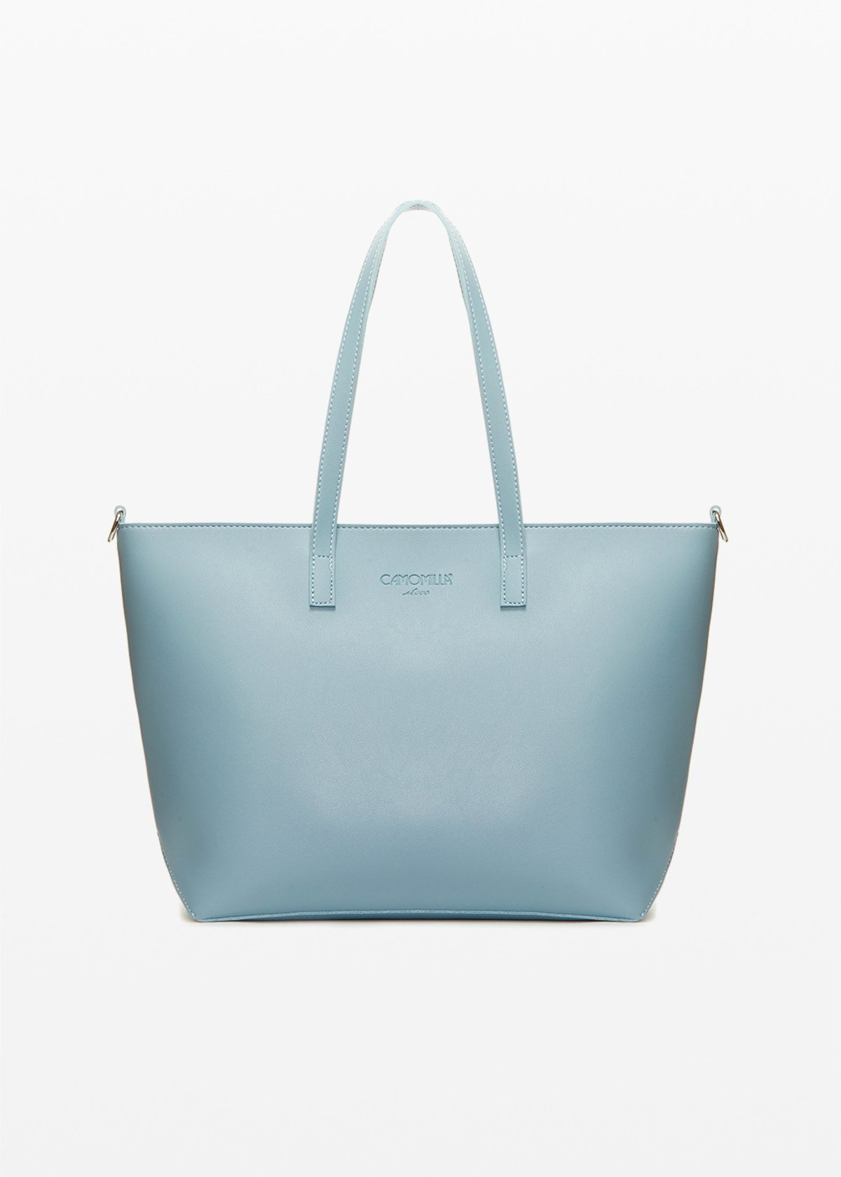 Bimal faux leather shopping bag with removable shoulder strap - Shark - Woman