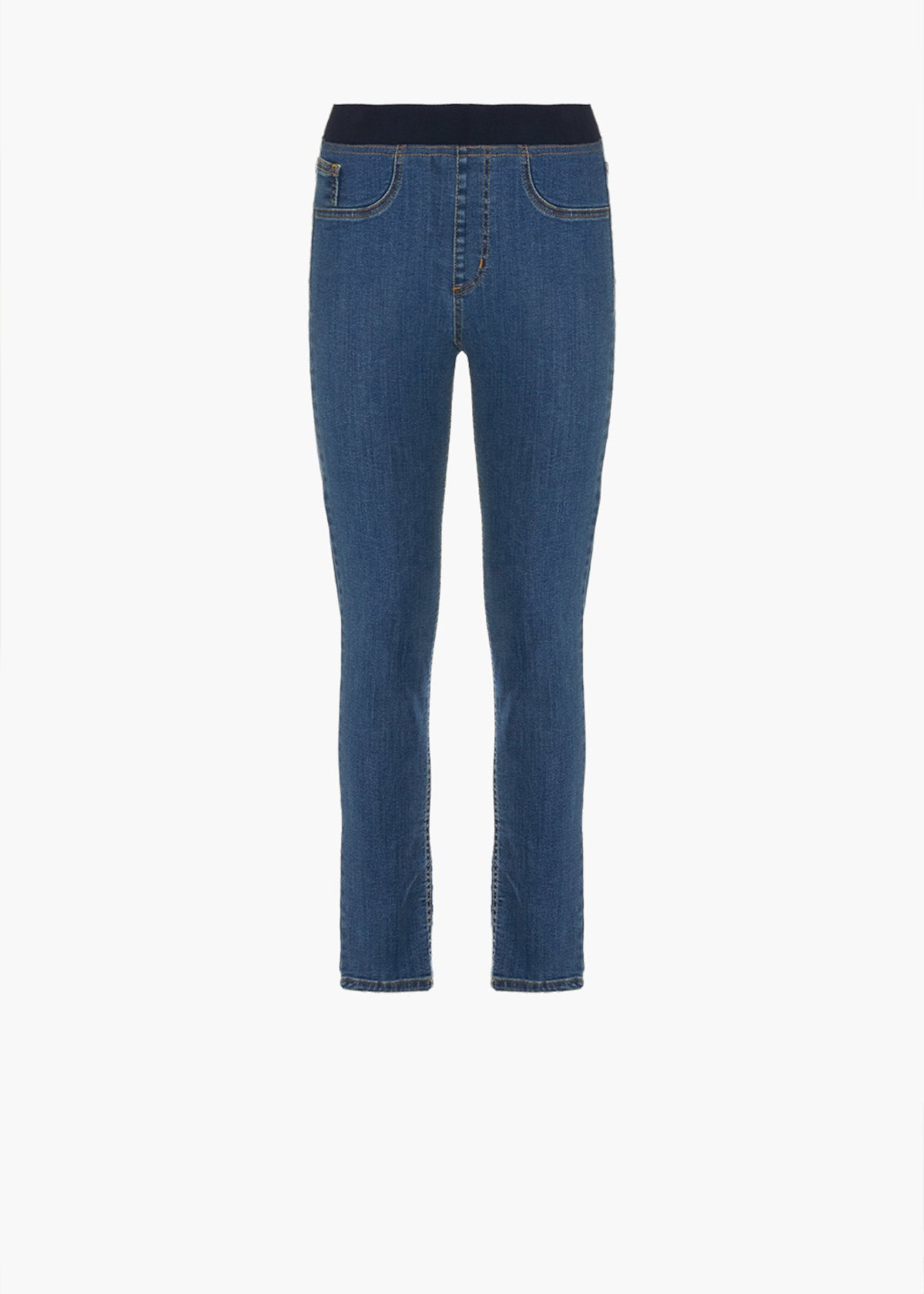 Jeggins Darlin with eleastic and honey-colored broguing - Blue - Woman - Category image