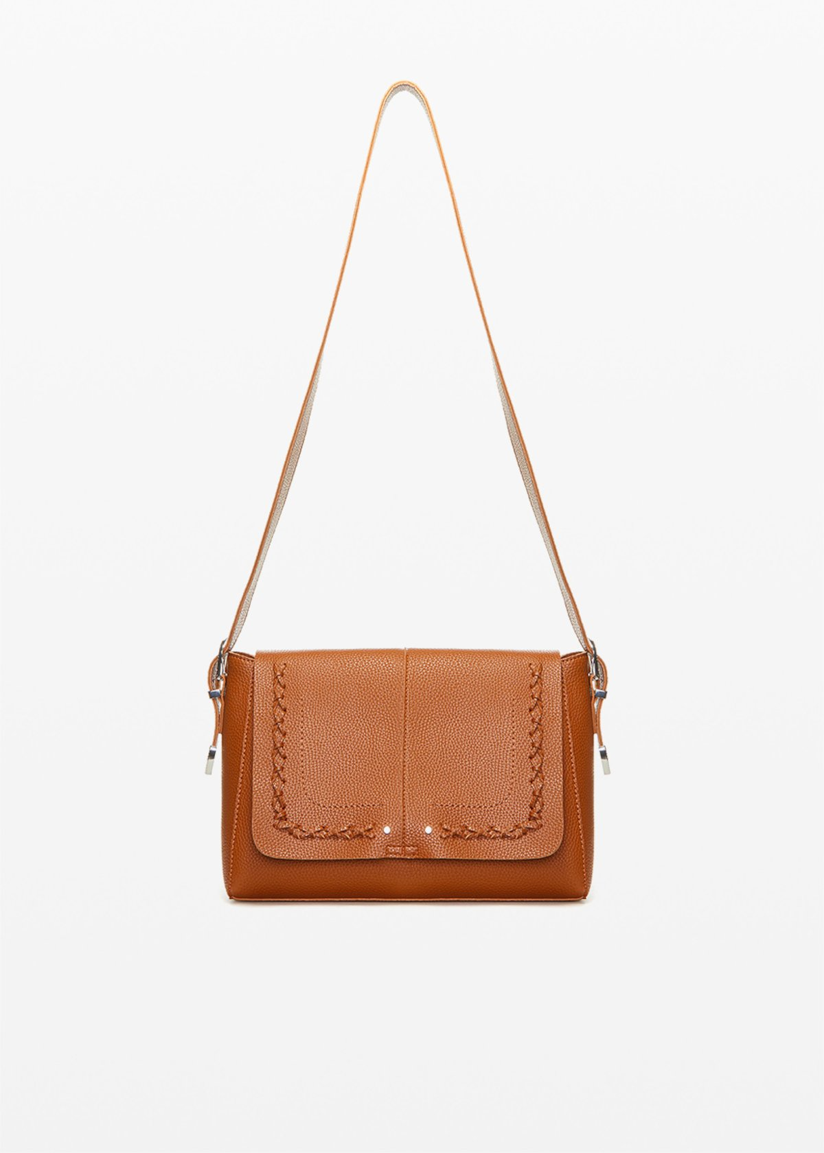 Boralia Cow shopping bag with interweaving detail - Copper_Blue - Woman - Category image