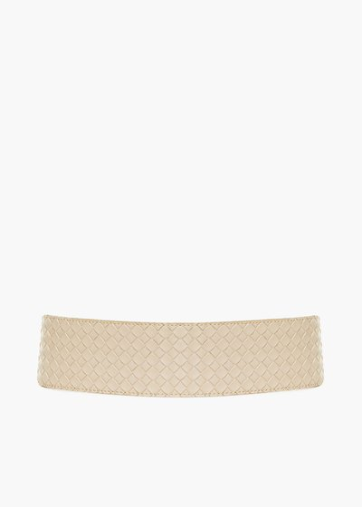 Coralia braided faux leather stretch belt