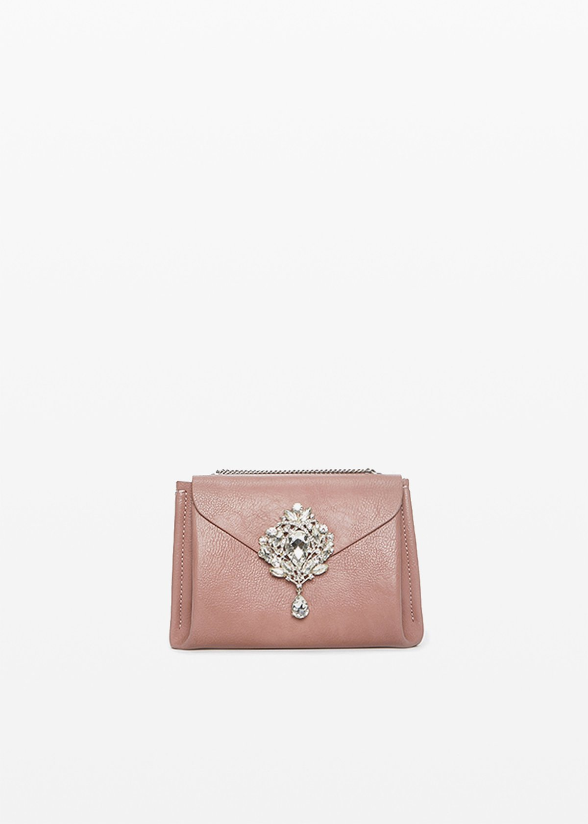 Bluey shoulder bag with chain strap - Calcite - Woman