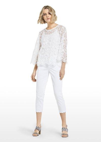 Carolina blouse stripes lurex effect