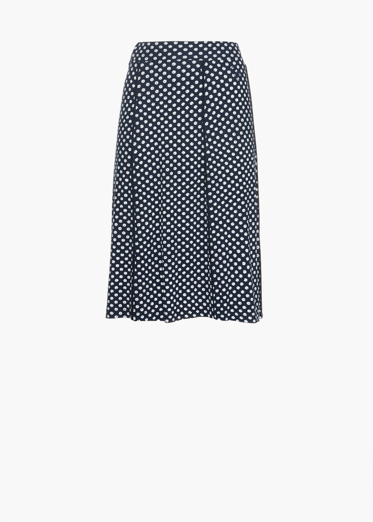 Skirt Goldys in all over printed jersey - Medium Blue / White Pois - Woman