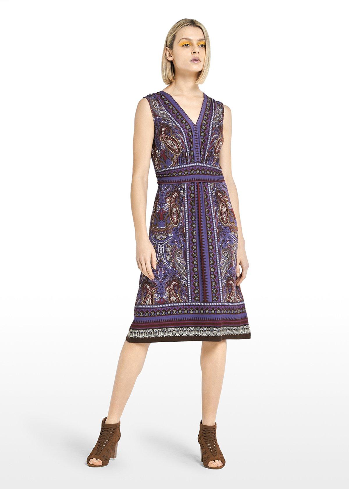 Ail sleeveless dress - Crosta / Miele / Fantasia - Woman