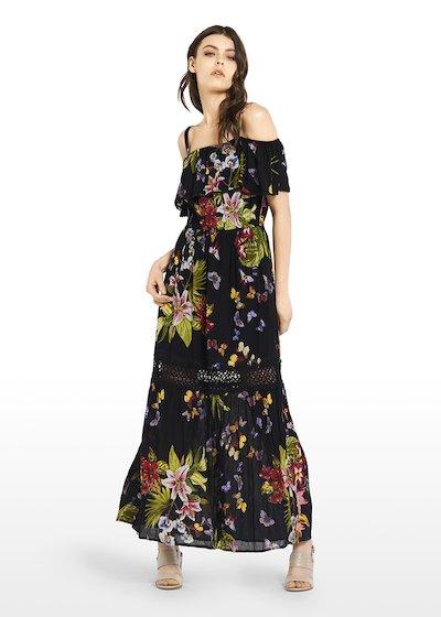 Amyl dress with flounce