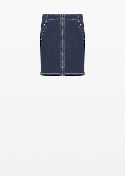 Gayla denim skirt with zip