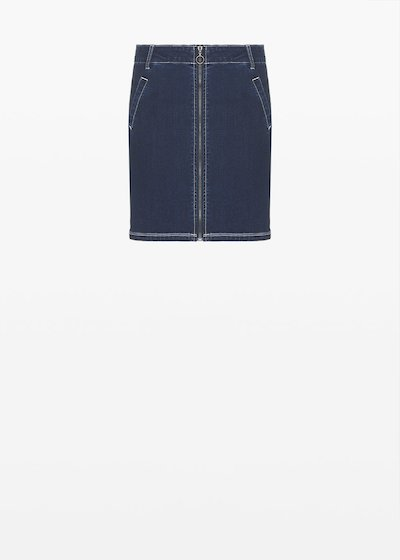 Gayla denim skirt with zip