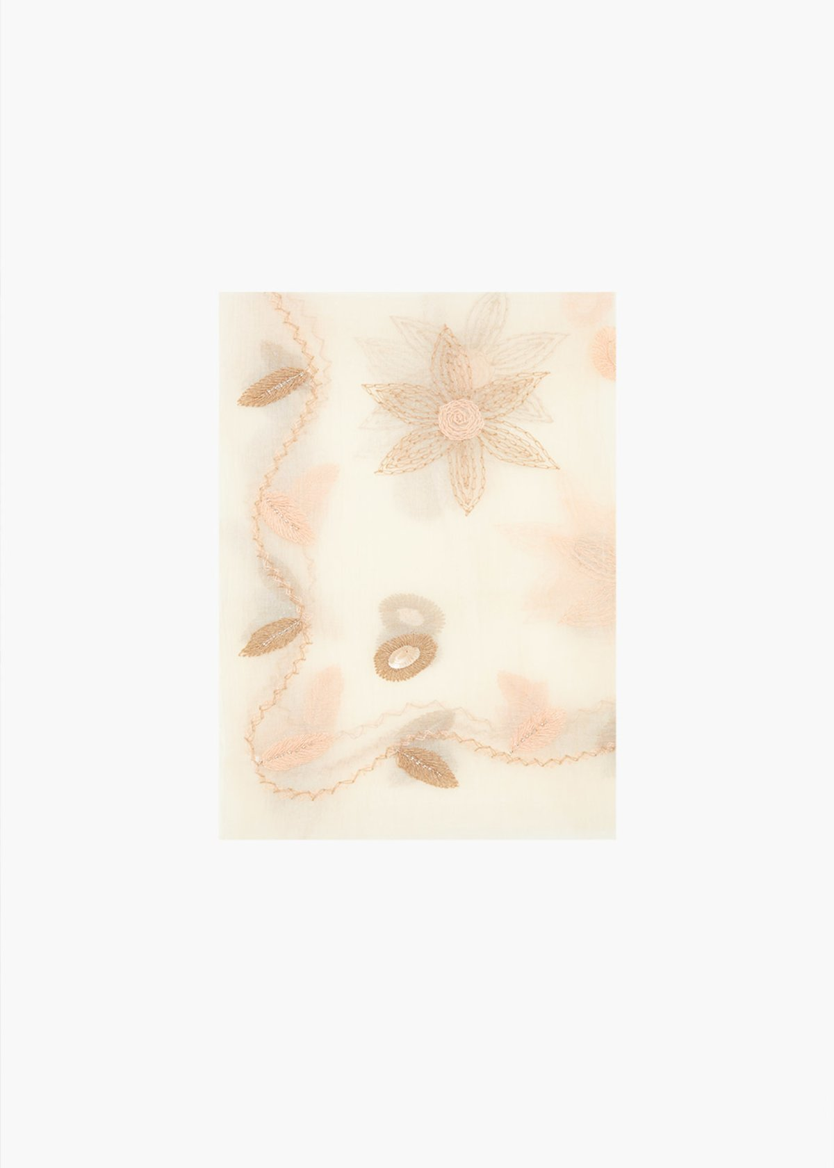 Cotton and silk Sqay scarf - Pera / Nomad - Woman