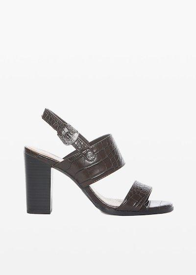 Sael sandals crocodile effect