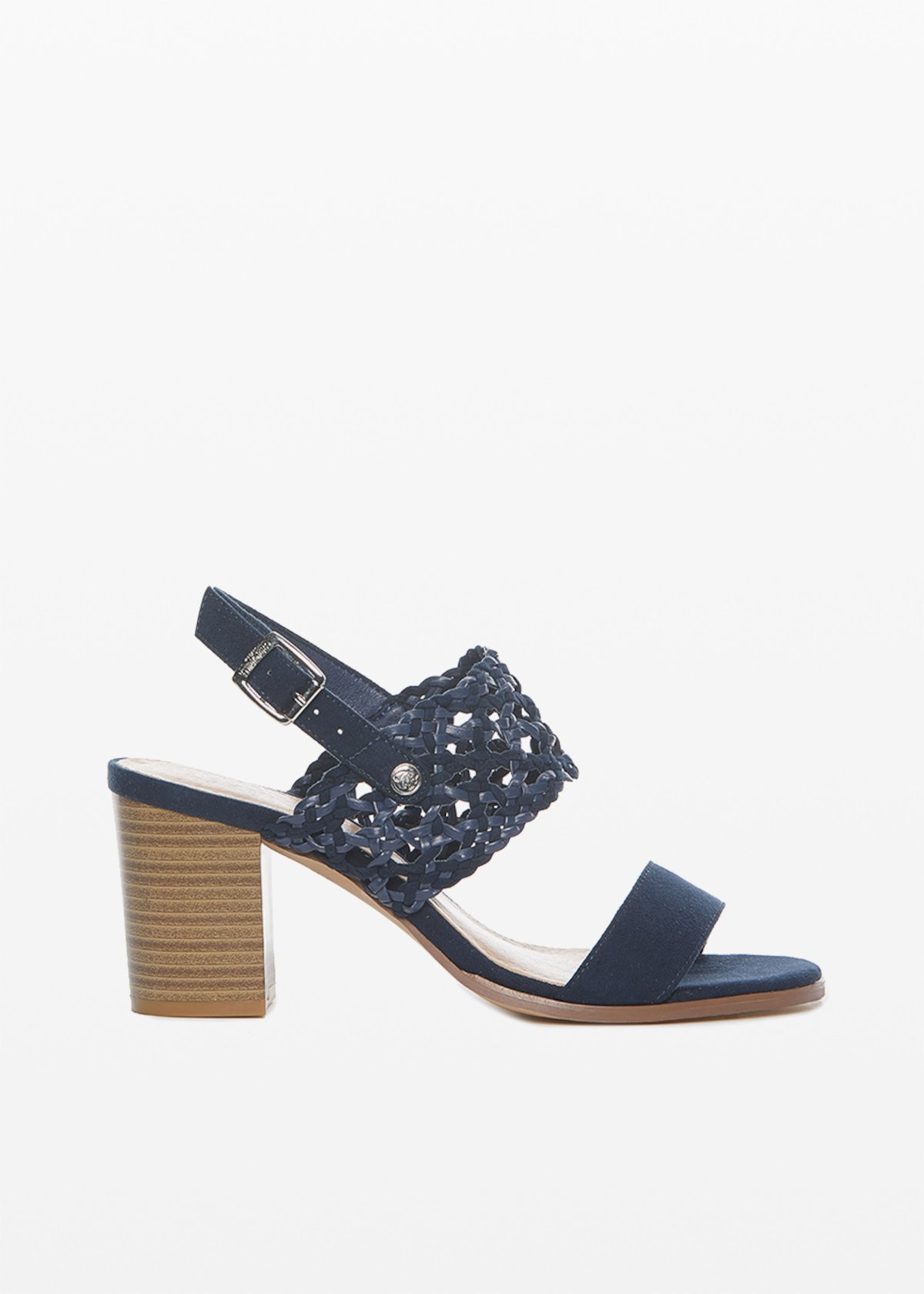 Saily faux suede sandals with braided strip
