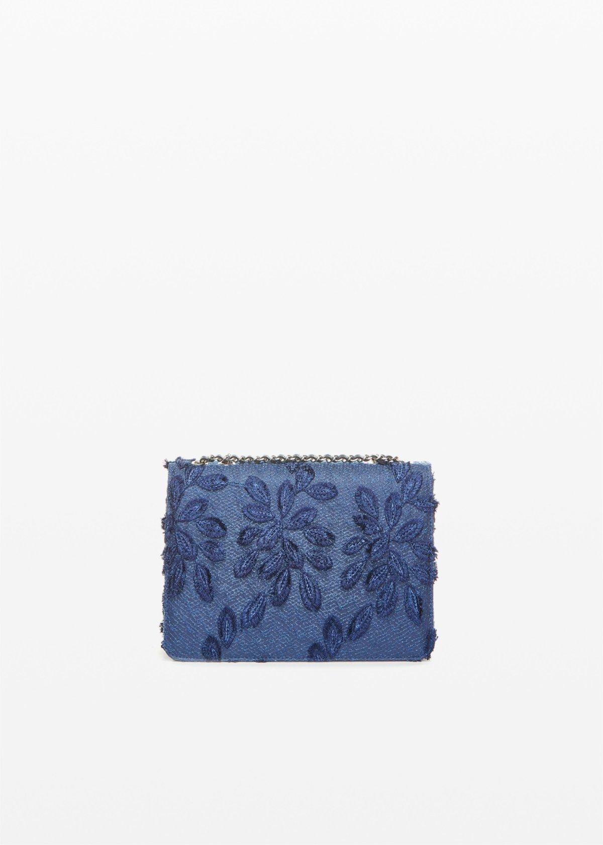 Pochette rigida Fede Leaf con tracolla - Dark Blue - Donna - Immagine categoria