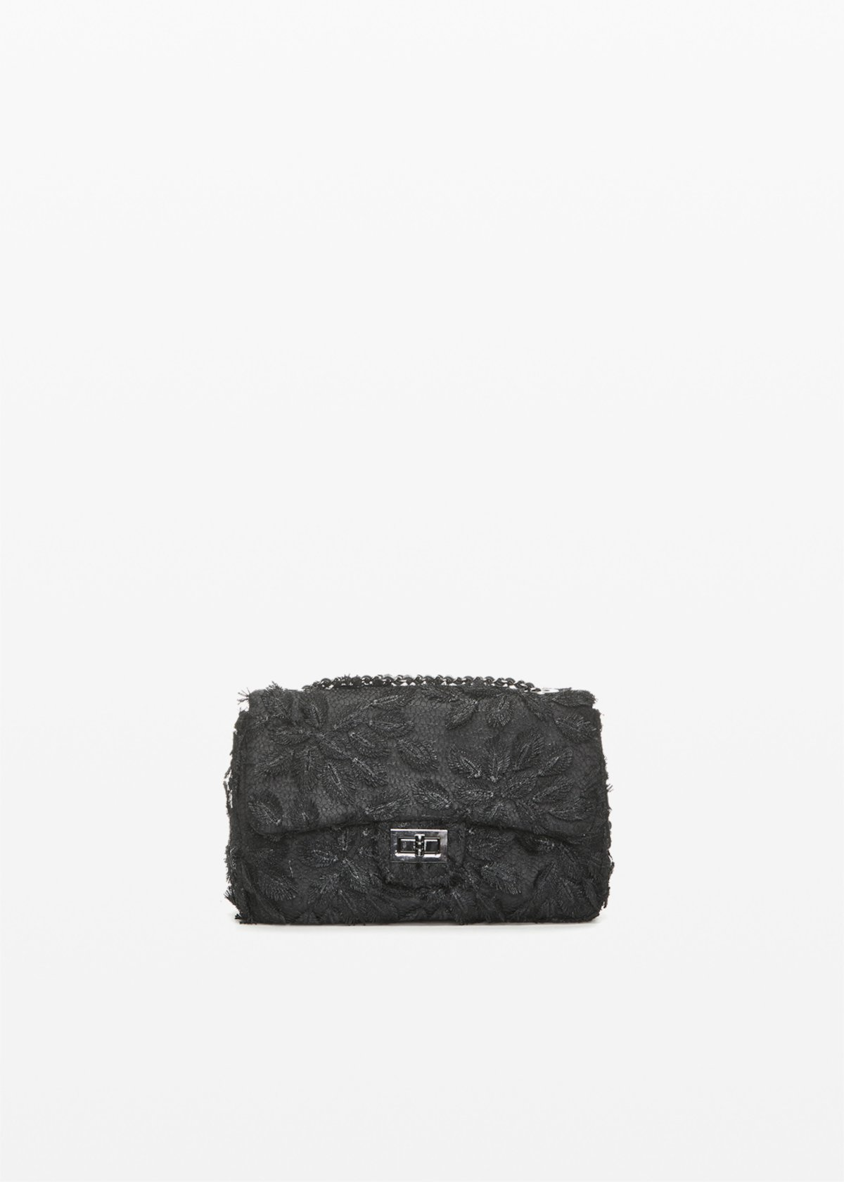 Pochette semi rigida Giadaleaf con fogliame - Black - Donna - Immagine categoria