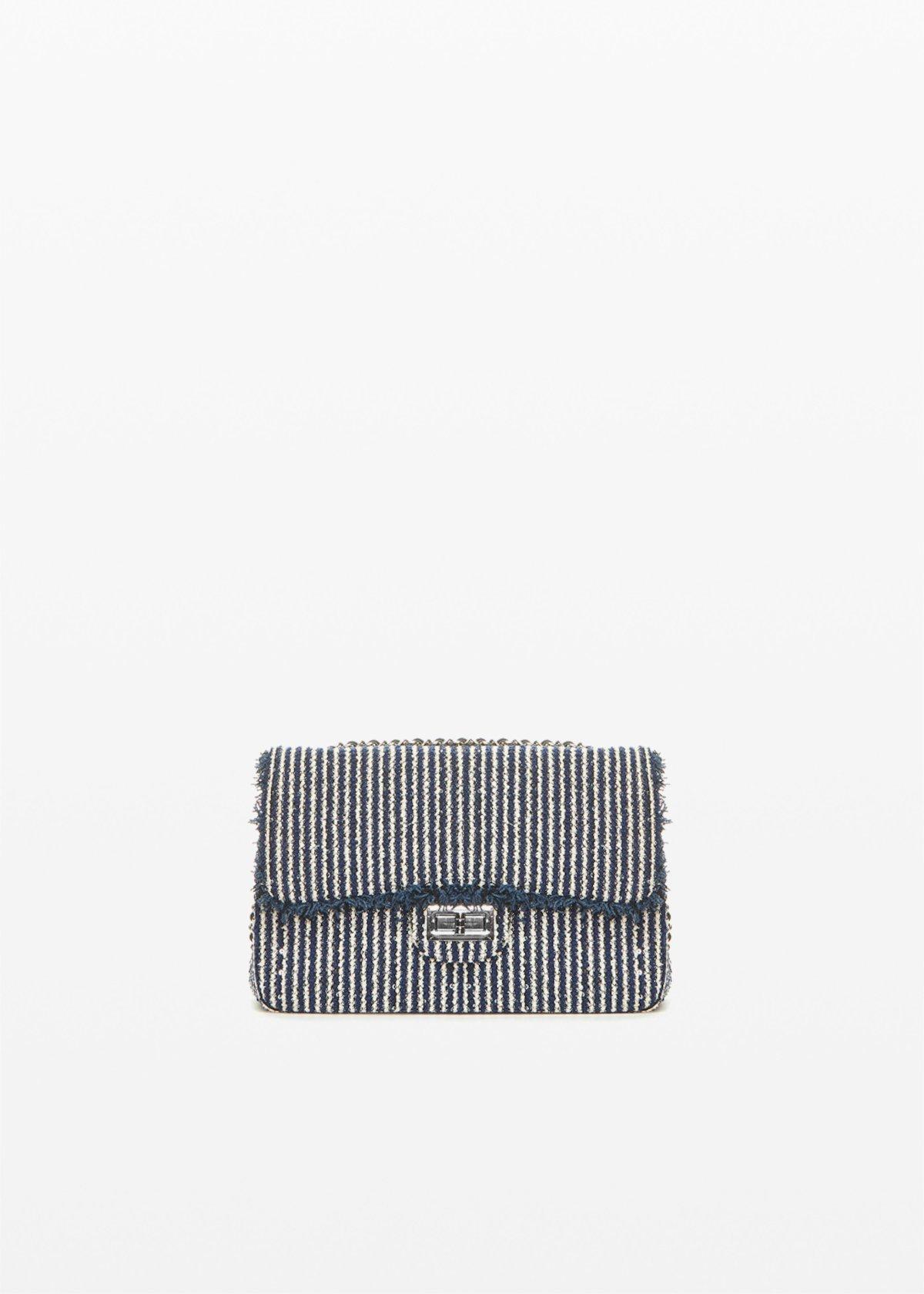 Pochette Giadastri semi rigida - Blue / White Stripes - Donna