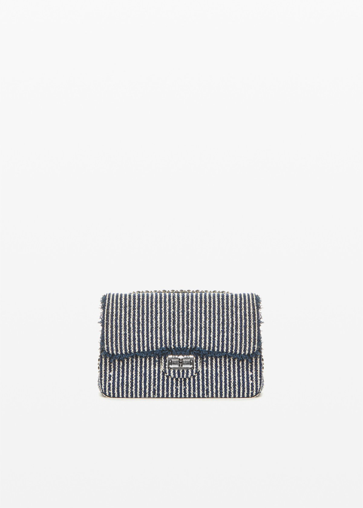 Giadastri semi rigid clutch - Blue / White Stripes - Woman