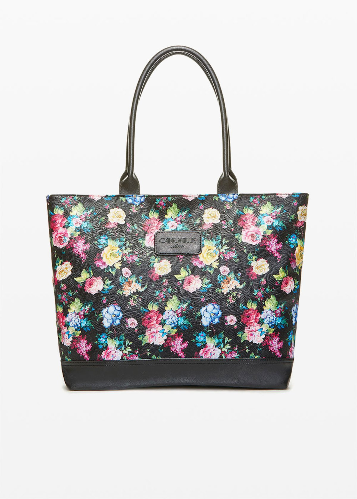 Trendflo3 shopping bag with floral pattern - Black  Fantasia - Woman