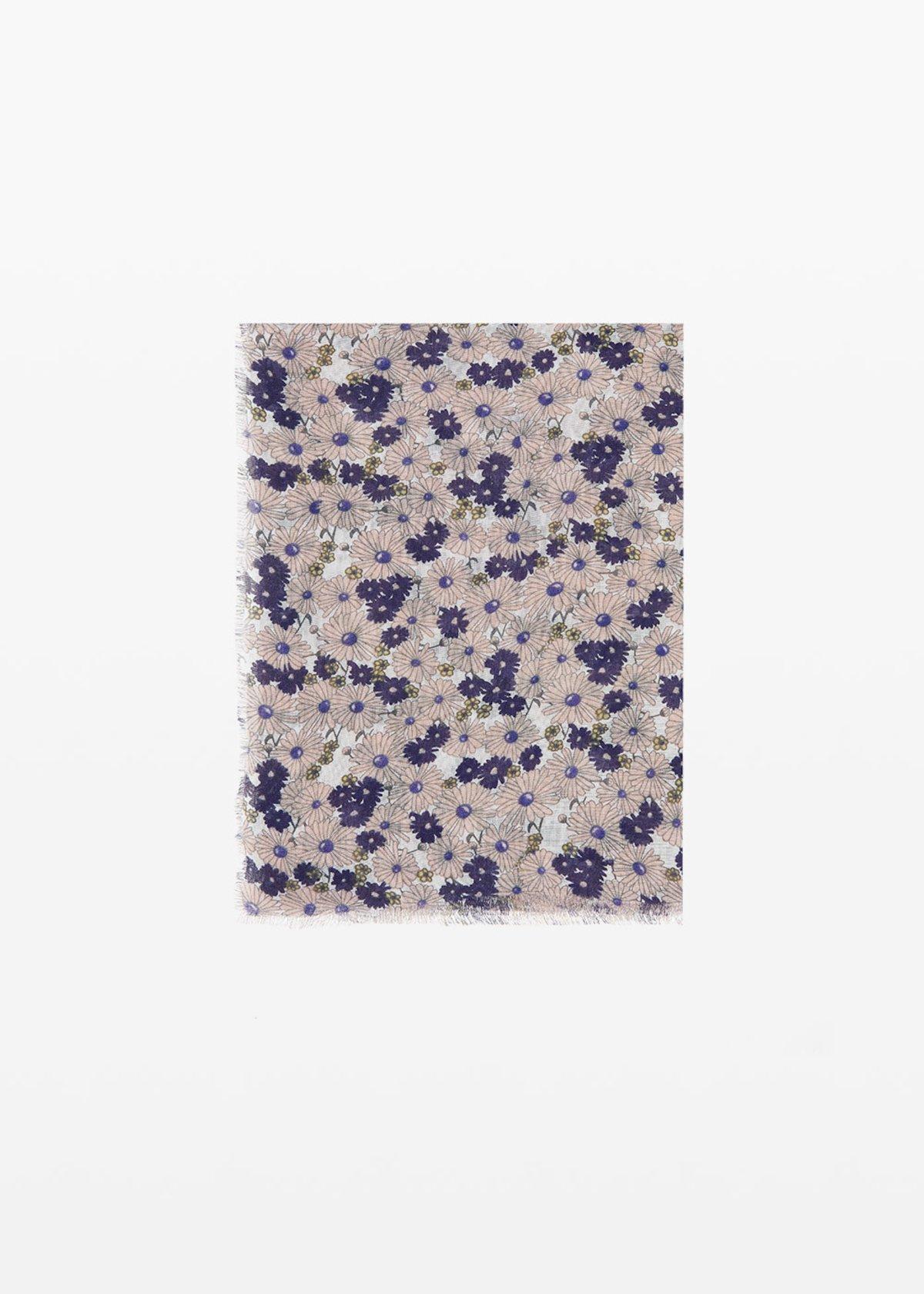 Spencer scarf micro-flowers print - Oca Fantasia - Woman
