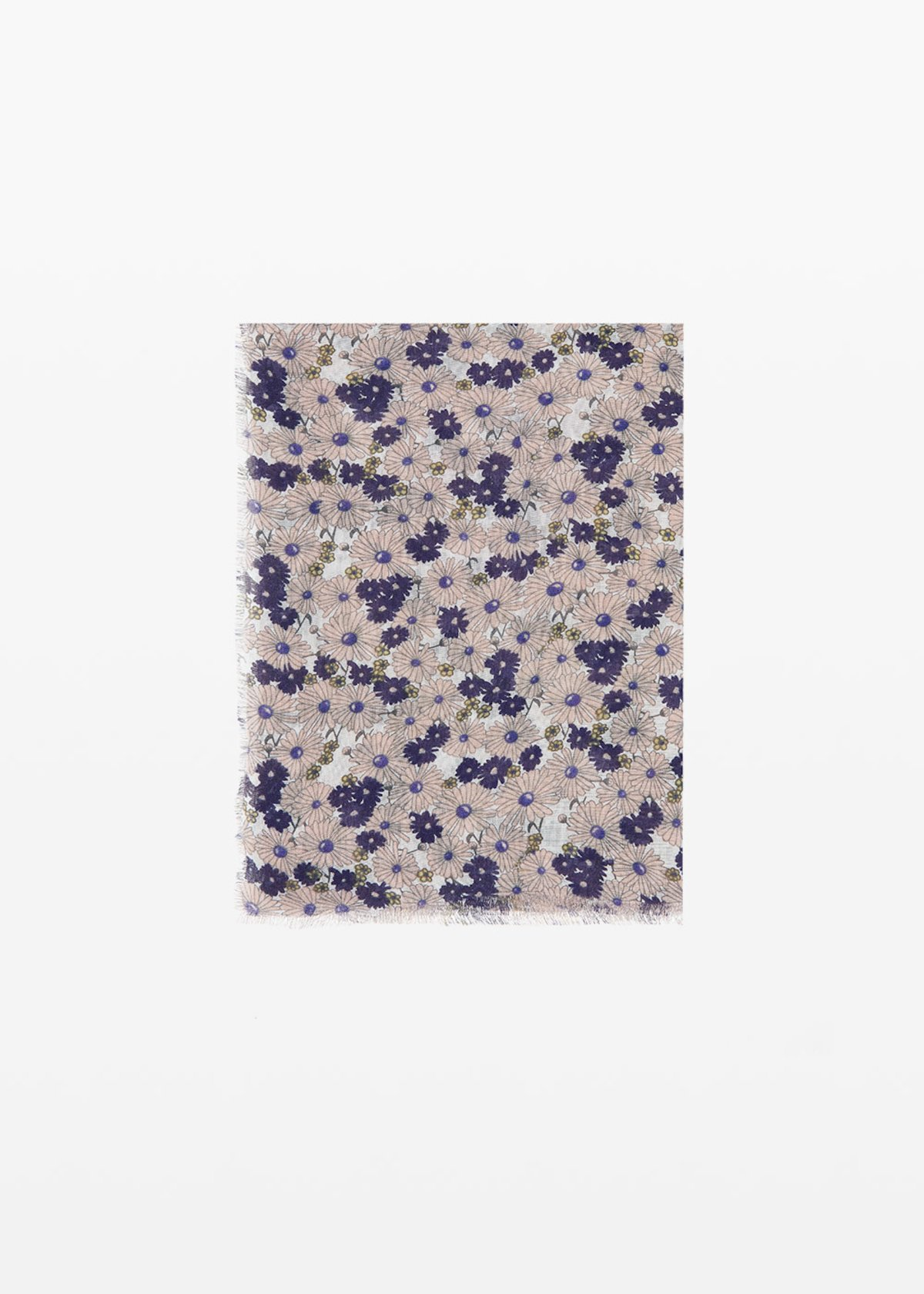 Spencer scarf micro-flowers print - Oca Fantasia - Woman - Category image