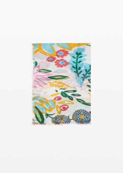 Salica scarf micro-flowers print