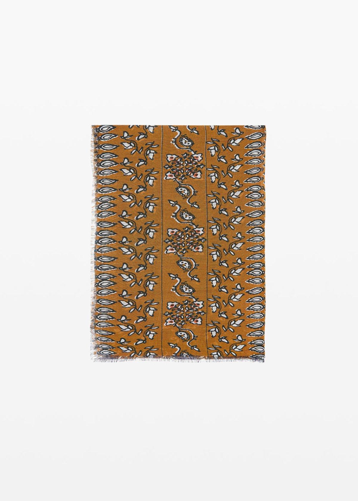 Saphir cashmere printed scarf - Medium Blue Fantasia - Woman - Category image
